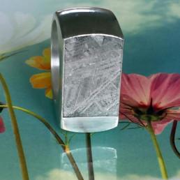 meteorit silber ring