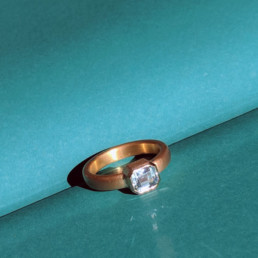Ring Gold Aquamarin