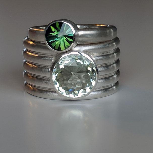 ring silber turmalin beryll