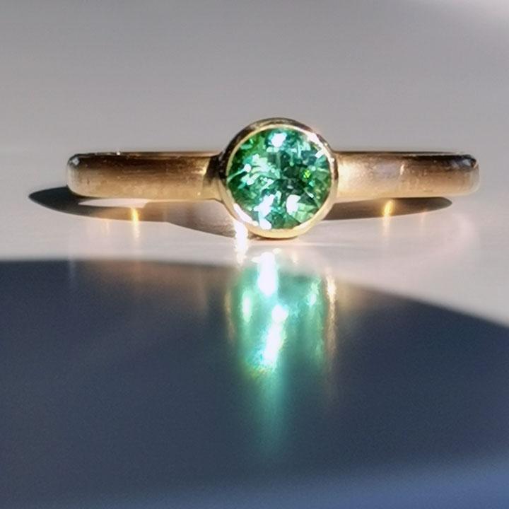 morandin Ring Gold mit gruenem Turmalin