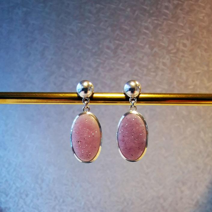 Ohrhänger Silber mit Amathyst