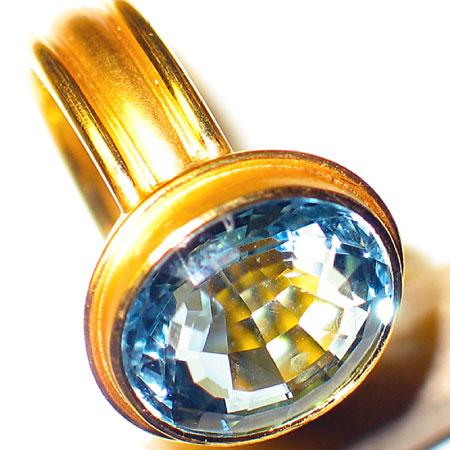 gold ring aquamarin