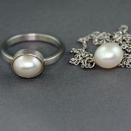 ring weissgold perle anhaenger