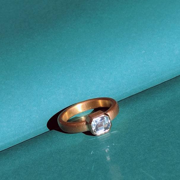 Ring Gold Aquamarin