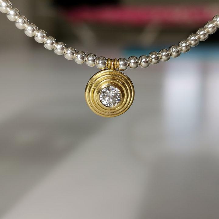 gold anhaenger brillant morandin